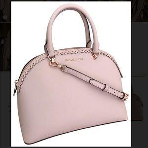 MK Emmy LG Dome Satchel Leather Shoulder / Handbag